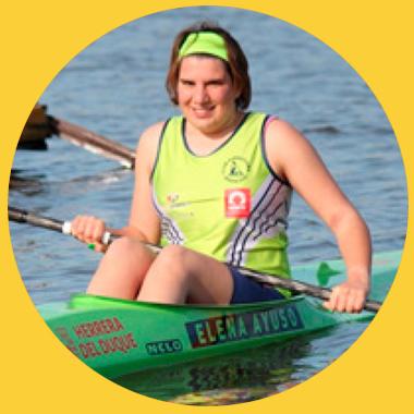 Elena Ayuso las primeras olimpiadas